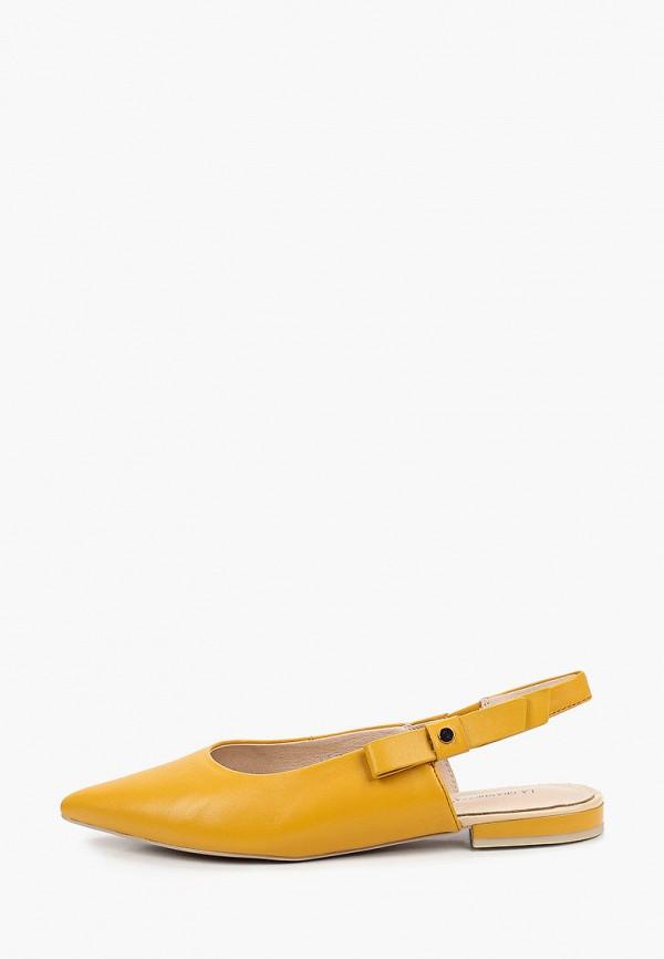 женские туфли la grandezza, желтые