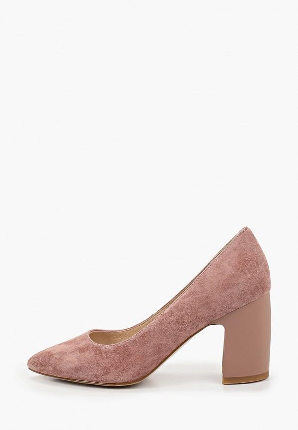 женские туфли с открытым носом la grandezza, розовые