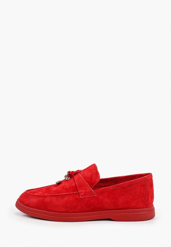 женские лоферы la grandezza, красные