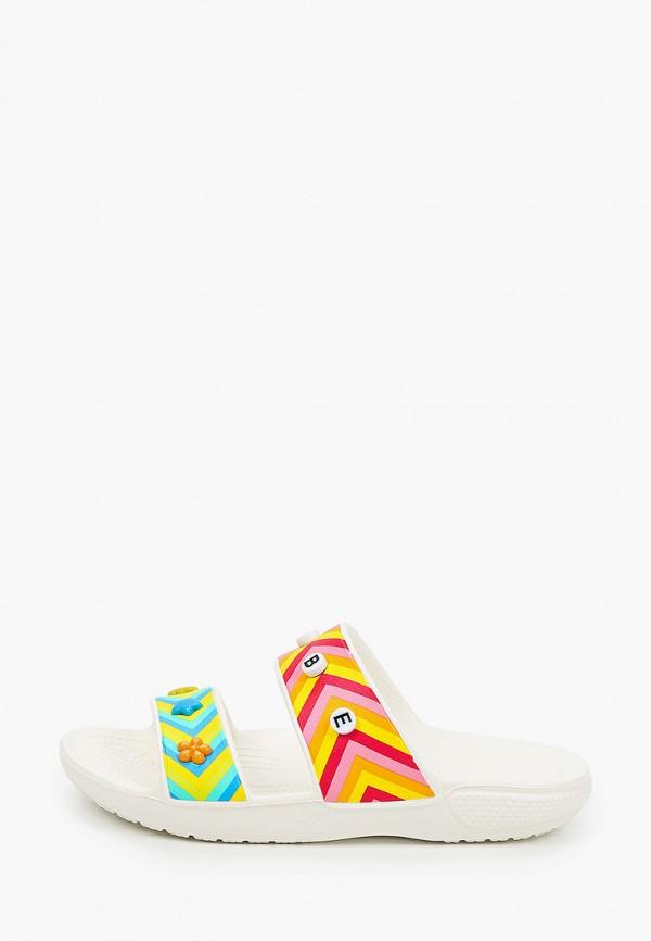 женские сланцы crocs, разноцветные