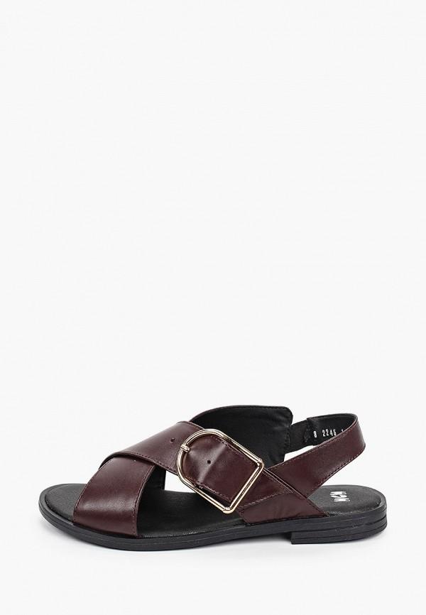 женские сандалии mcm, бордовые