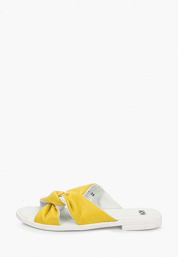женское сабо mcm, желтое