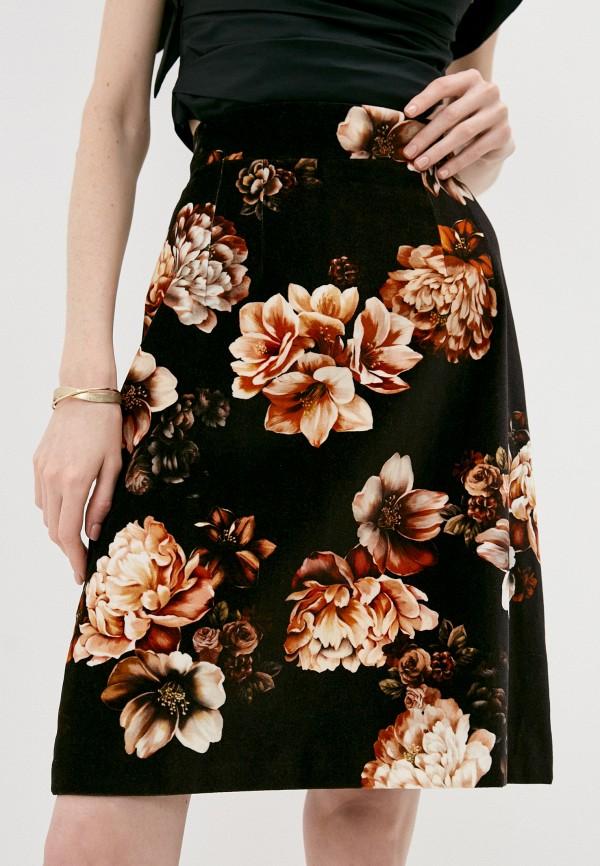 женская юбка-трапеции dolce & gabbana, черная