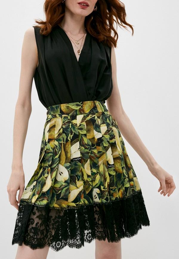 женская плиссированные юбка dolce & gabbana, разноцветная