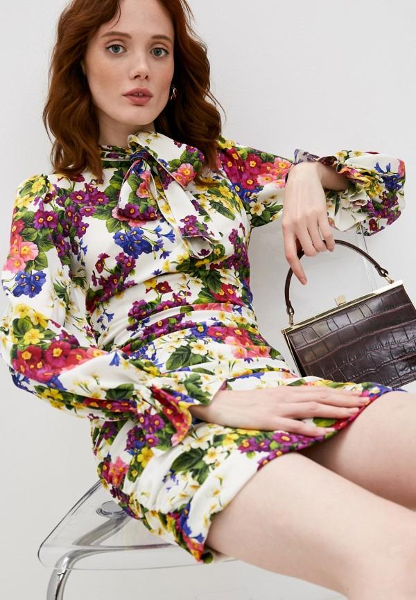 женское платье-футляр dolce & gabbana, разноцветное