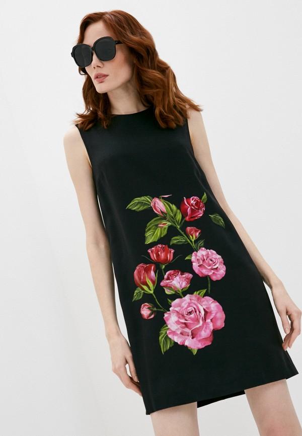 женское повседневные платье dolce & gabbana, черное