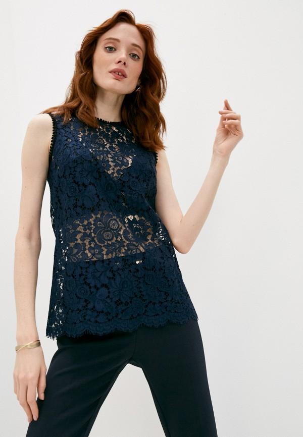 женская кружевные блузка dolce & gabbana, синяя