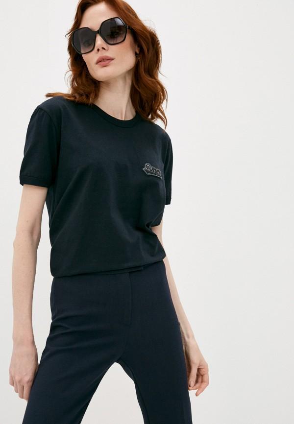 женская футболка dolce & gabbana, черная