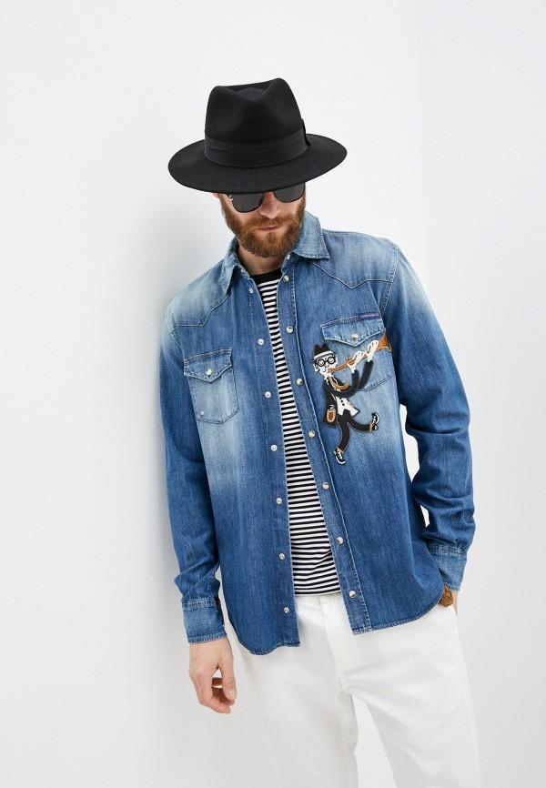 мужская джинсовые рубашка dolce & gabbana, синяя