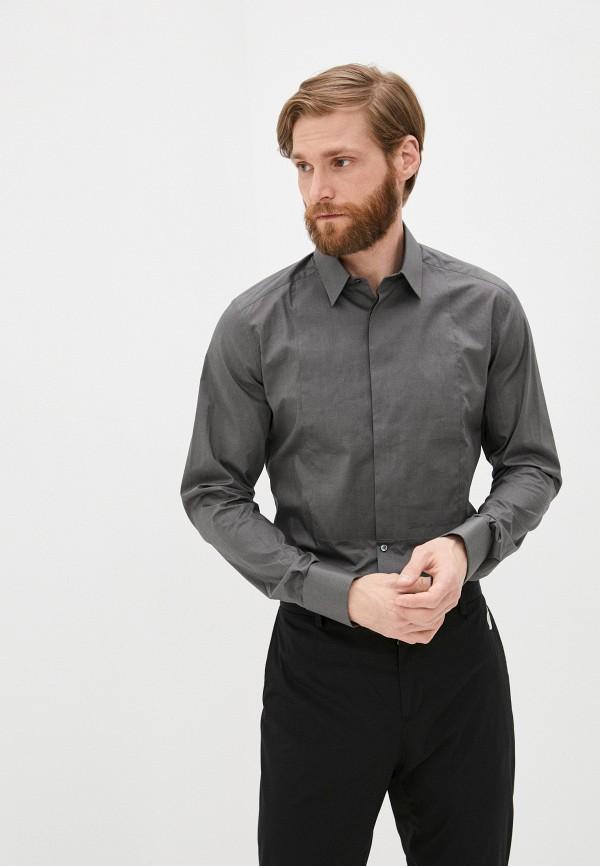 мужская рубашка с длинным рукавом dolce & gabbana, серая