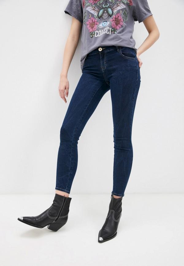 женские джинсы скинни colcci, синие