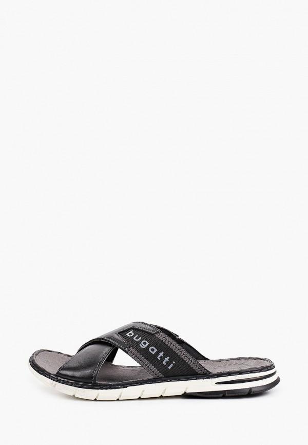 мужские сандалии bugatti, черные