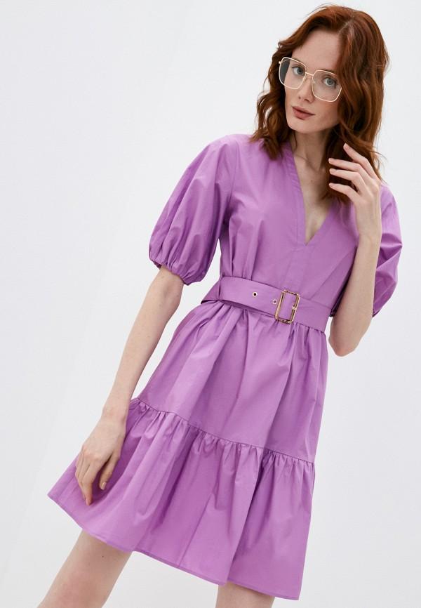 женское повседневные платье pinko, фиолетовое