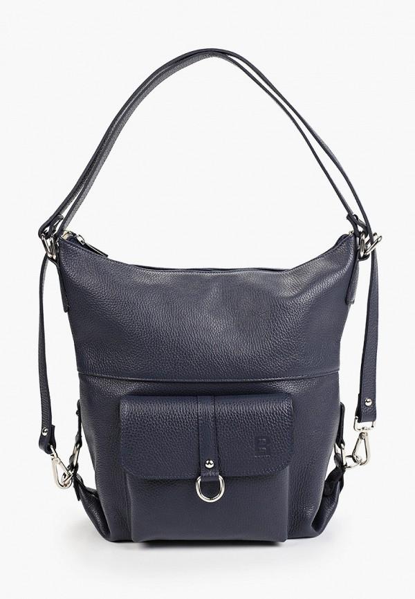 женская сумка с ручками roberto buono, синяя