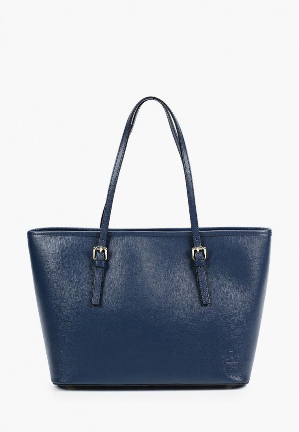 женская сумка-шоперы roberto buono, синяя