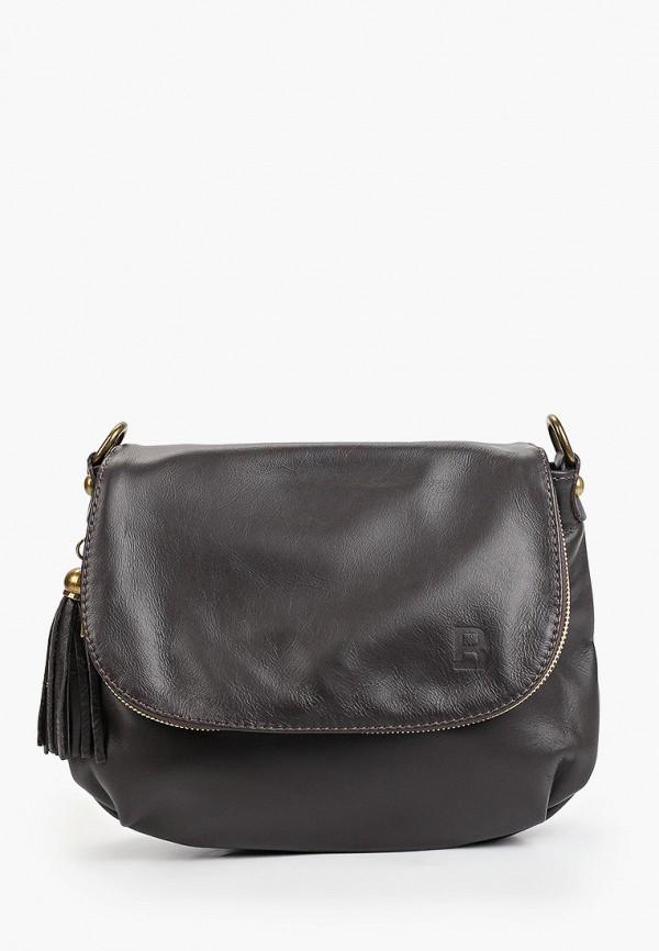 женская сумка через плечо roberto buono, коричневая