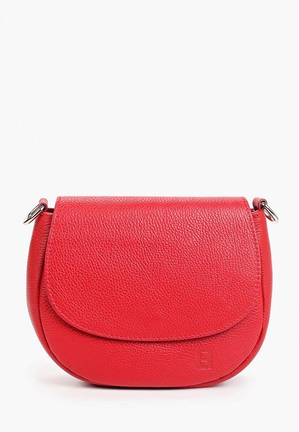 женская сумка через плечо roberto buono, красная