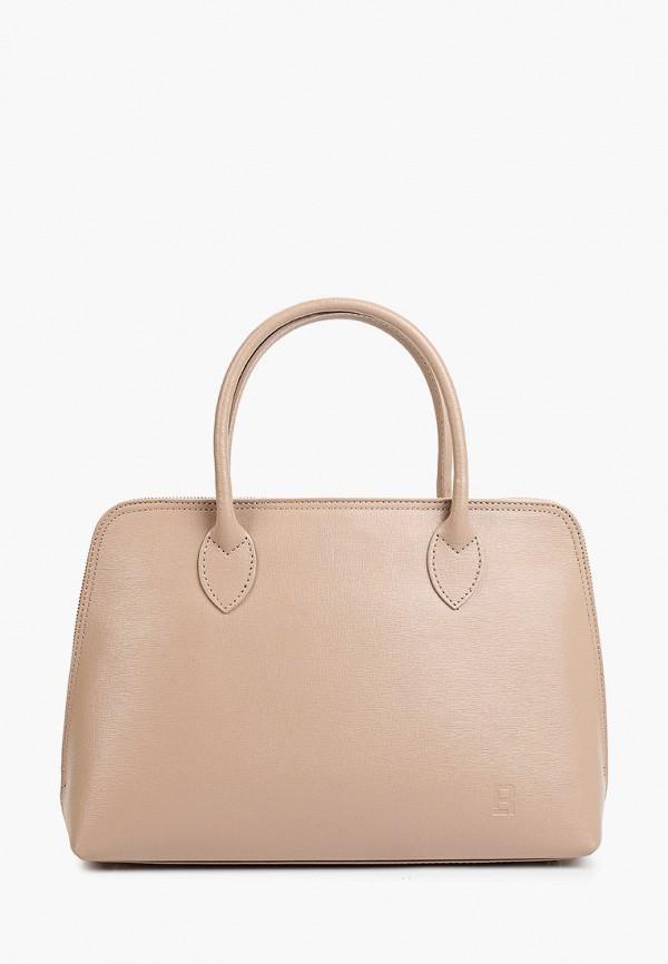 женская сумка с ручками roberto buono, бежевая