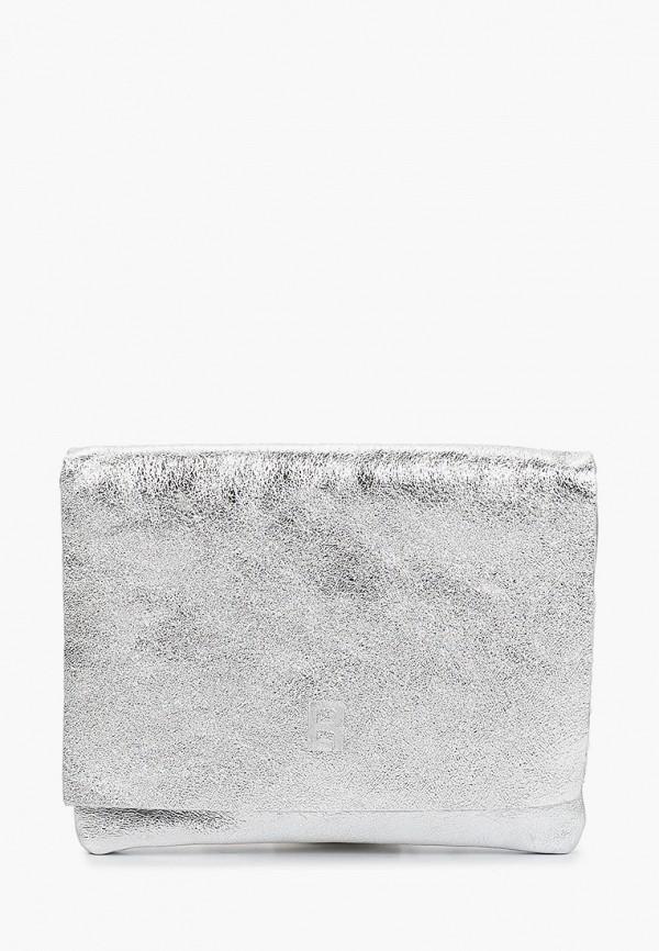 женская сумка через плечо roberto buono, серебряная