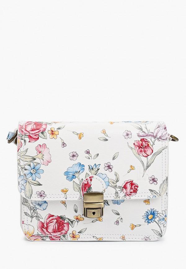 женская сумка через плечо roberto buono, белая
