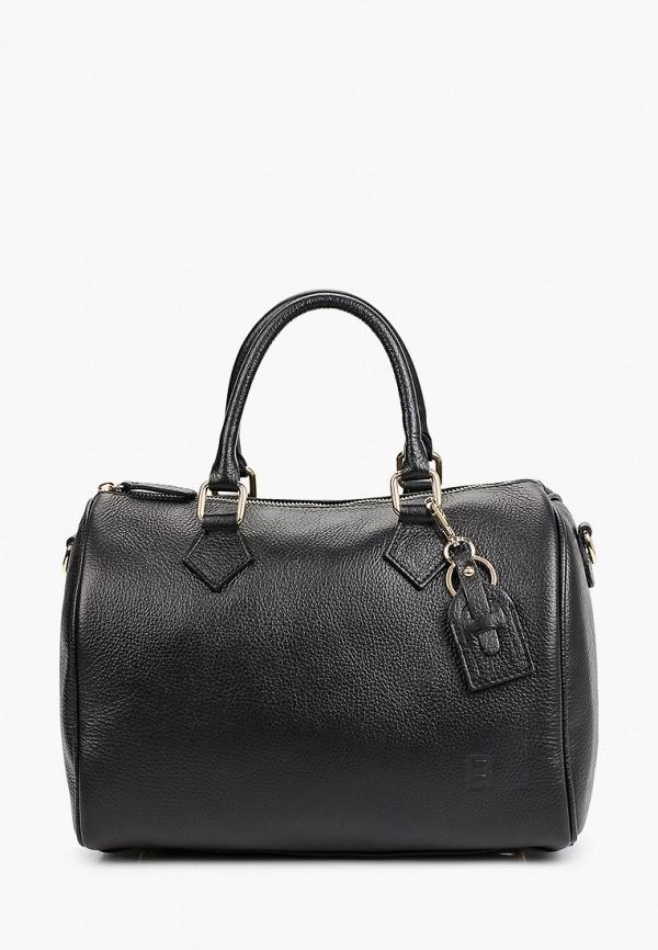 женская сумка с ручками roberto buono, черная