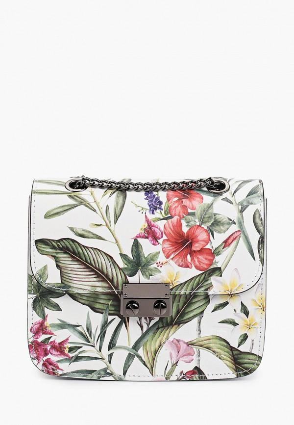 женская сумка через плечо roberto buono, разноцветная