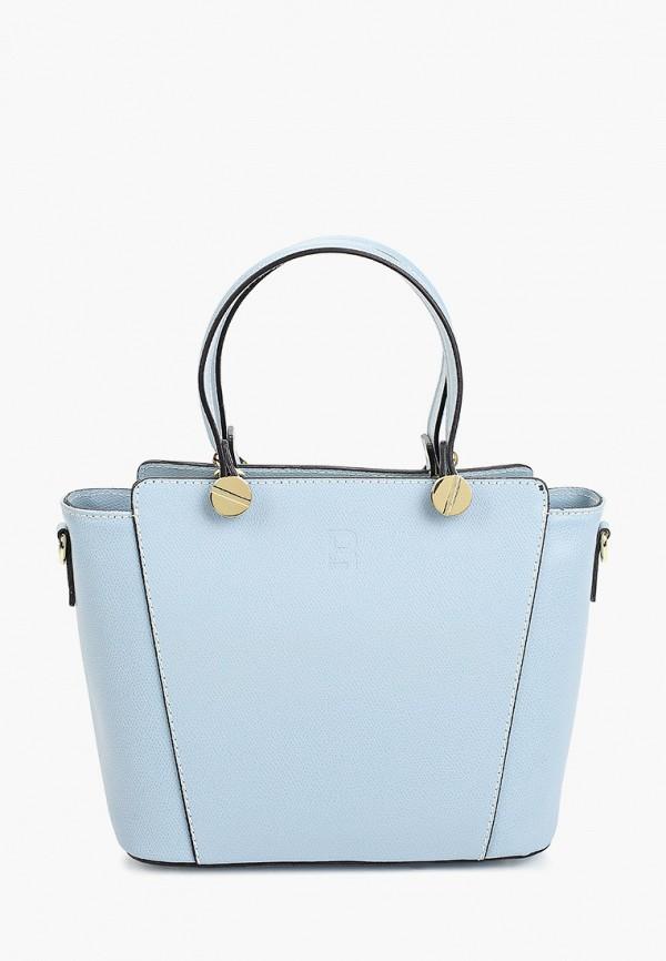 женская сумка с ручками roberto buono, голубая