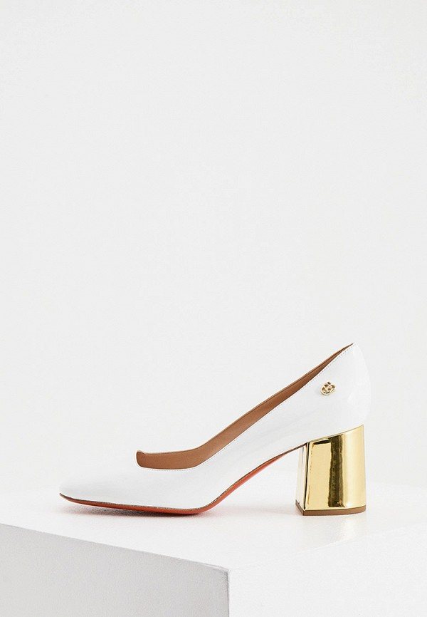 женские туфли с закрытым носом baldinini, белые
