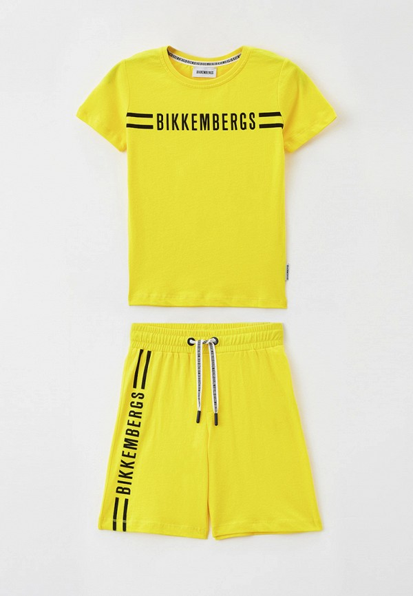 спортивный костюм bikkembergs для мальчика, желтый
