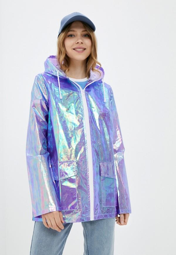 женская куртка brave soul, фиолетовая