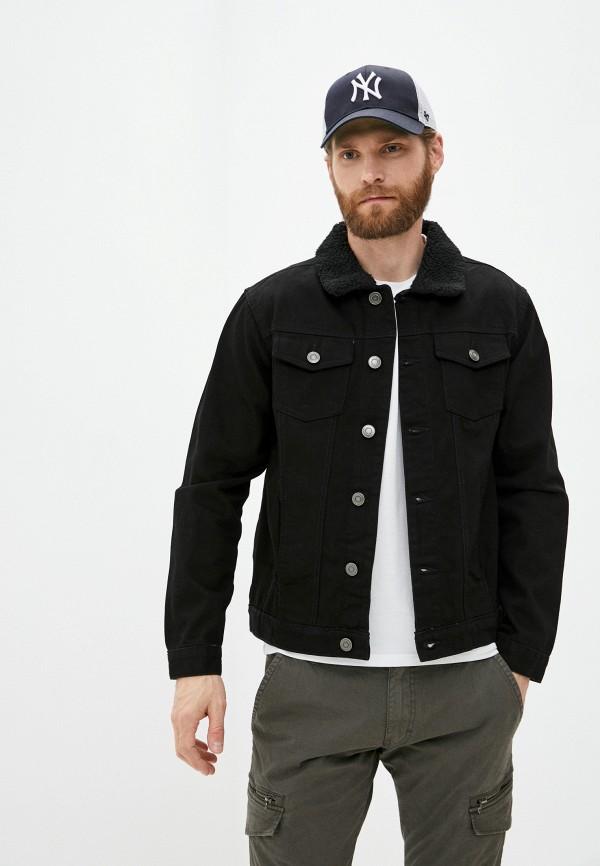 мужская джинсовые куртка brave soul, черная