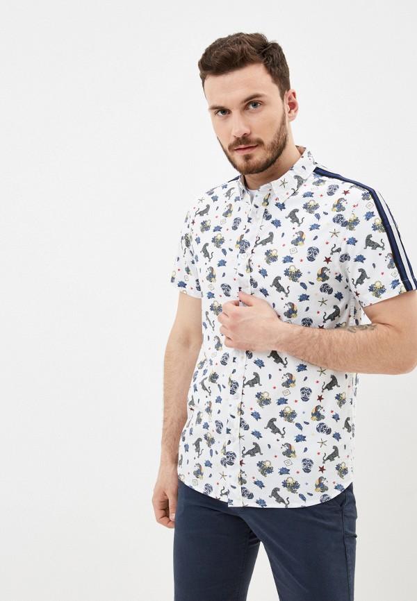 мужская рубашка с коротким рукавом brave soul, белая