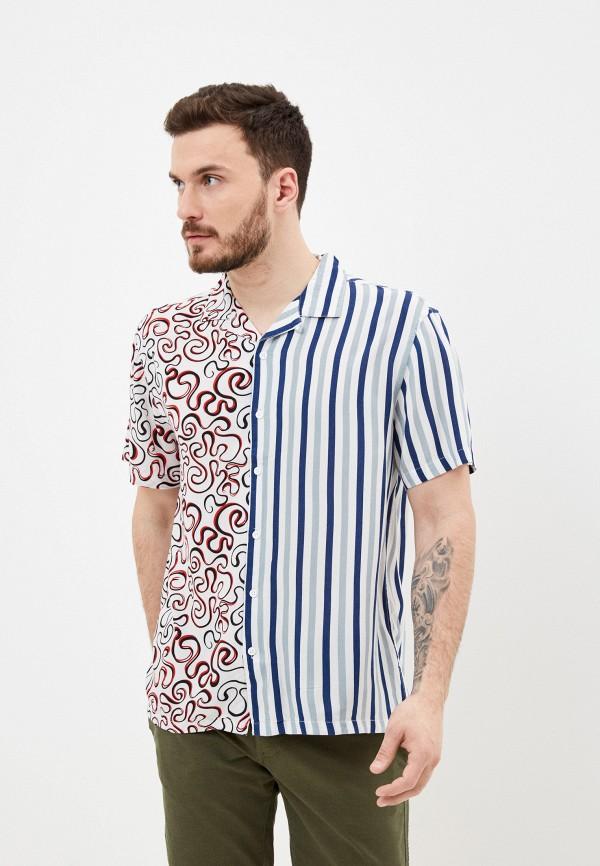 мужская рубашка с коротким рукавом brave soul, разноцветная
