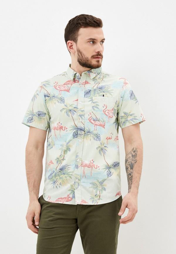 мужская рубашка с коротким рукавом brave soul, зеленая