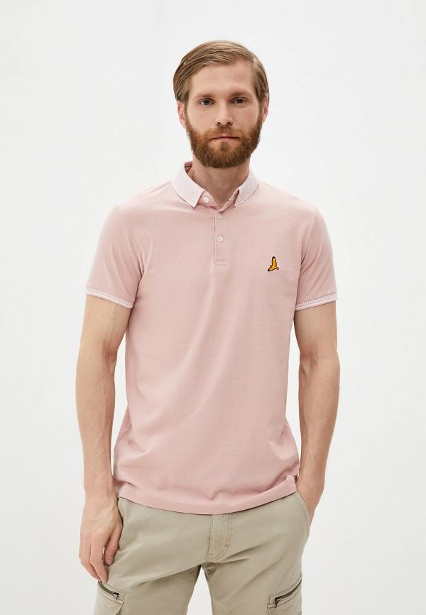 мужское поло brave soul, розовое