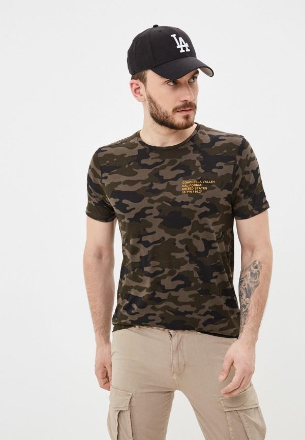 мужская футболка с коротким рукавом brave soul, хаки