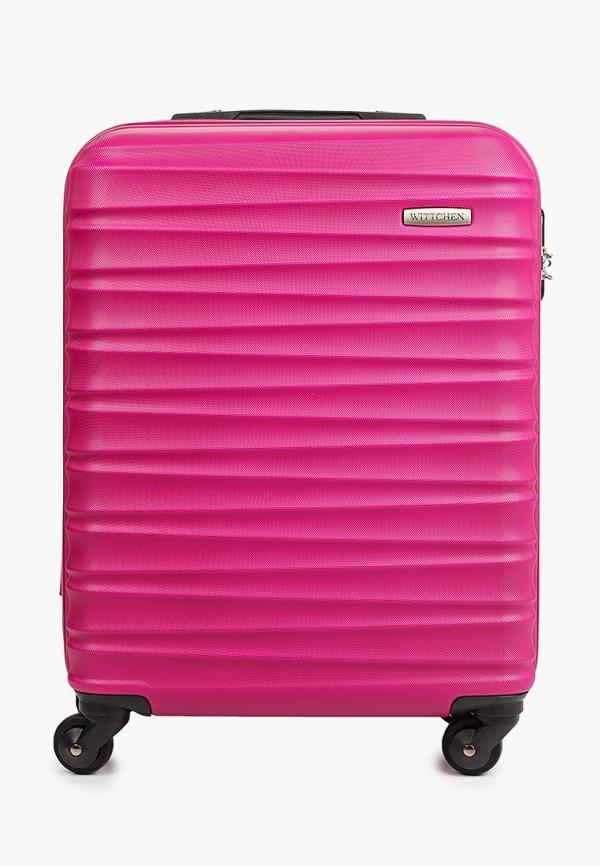 женский чемодан wittchen, розовый