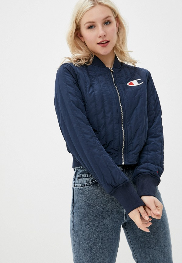 женская куртка champion, синяя