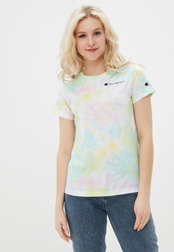 женская спортивные футболка champion, разноцветная