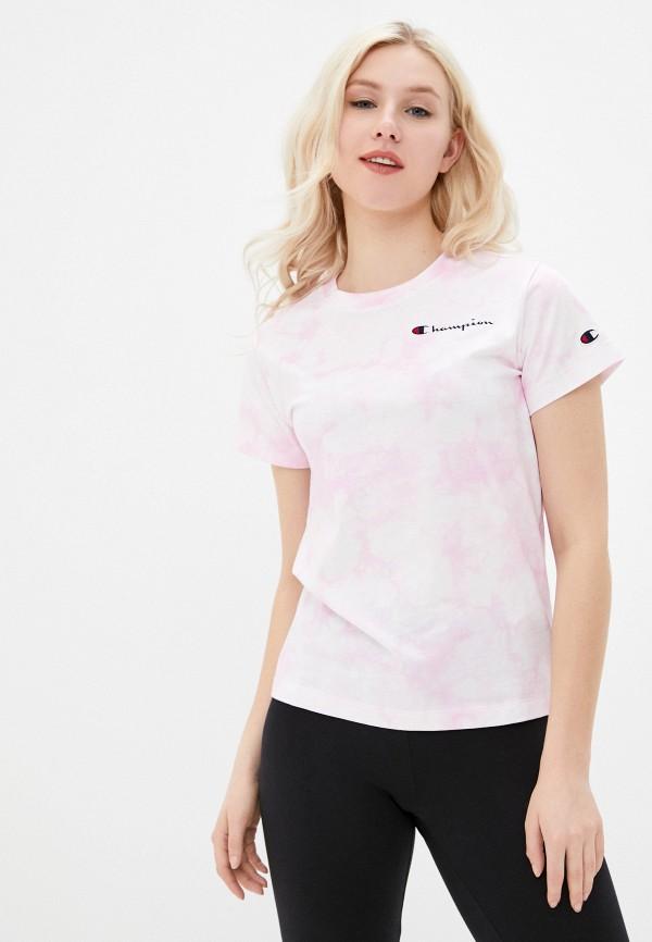 женская спортивные футболка champion, розовая