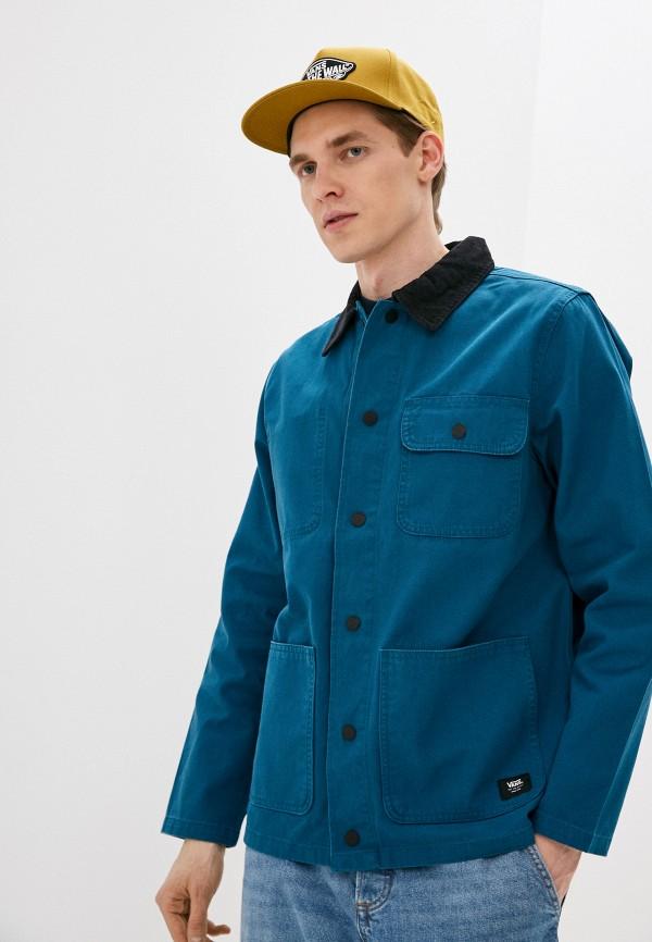 мужская спортивные куртка vans, бирюзовая