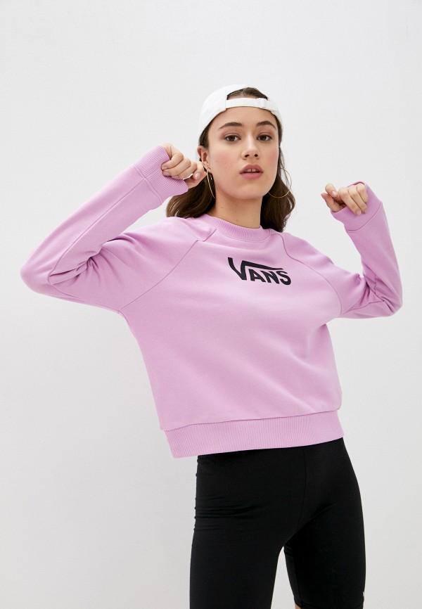 женский спортивные свитшот vans, розовый