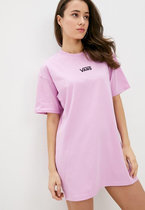 женское спортивные платье vans, розовое
