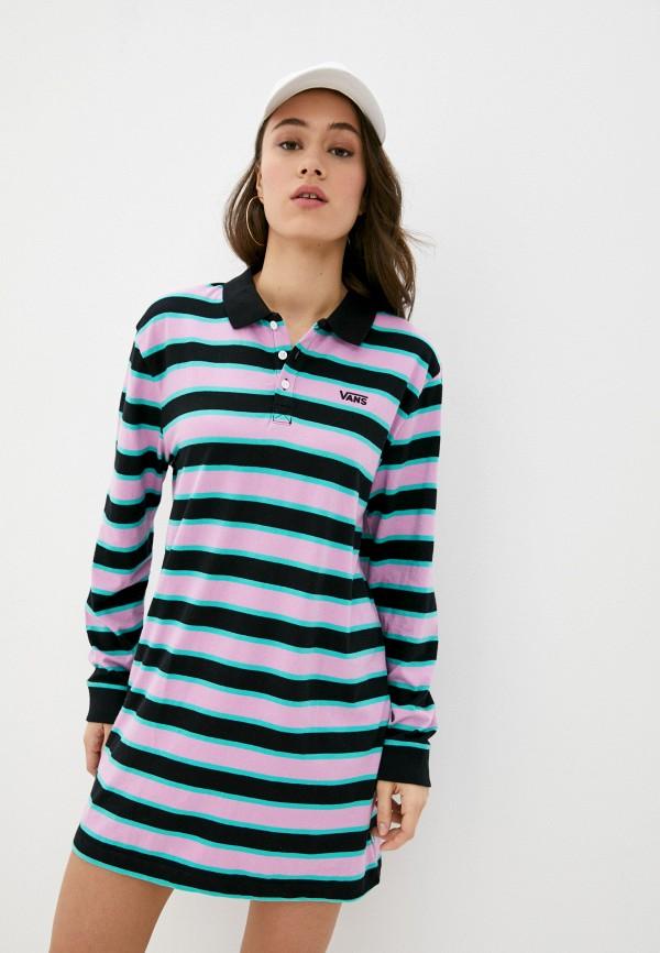 женское платье-футболки vans, розовое