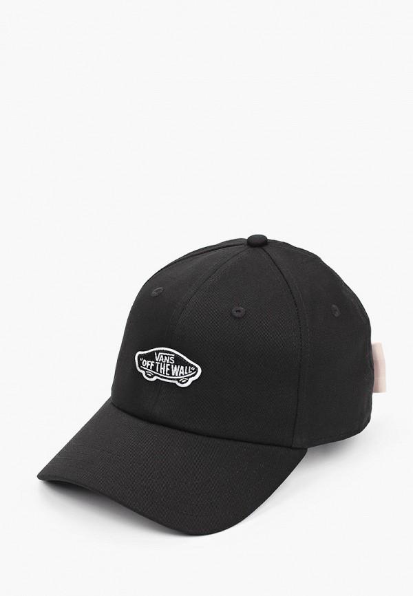 женская бейсболка vans, черная