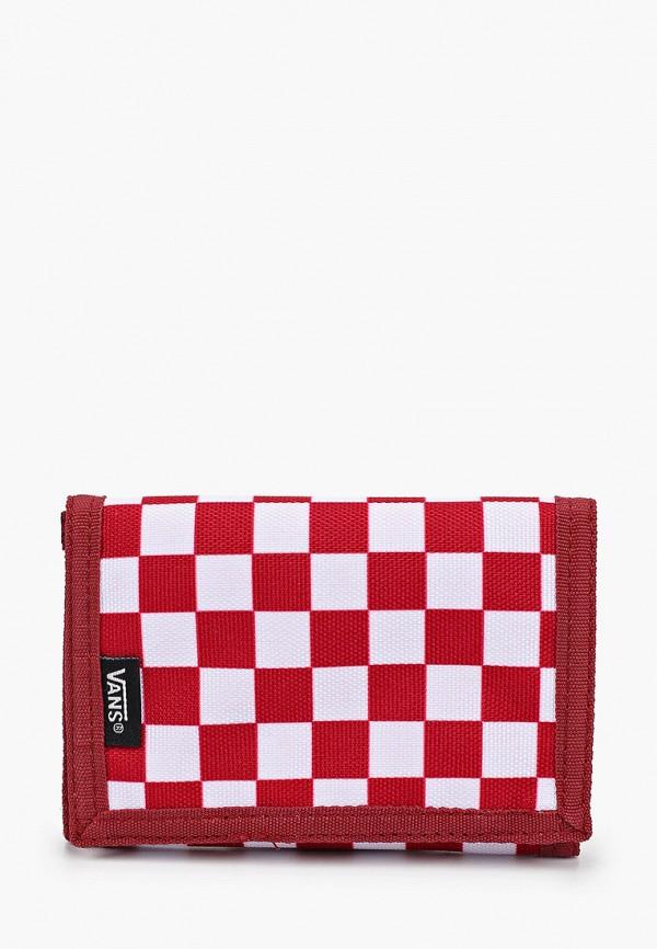 мужской кошелёк vans, красный