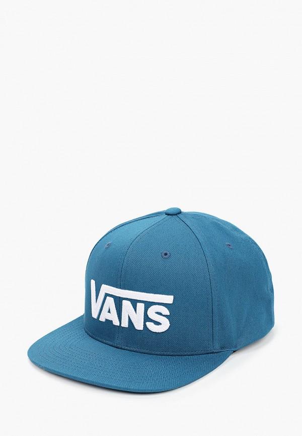 мужская бейсболка vans, синяя