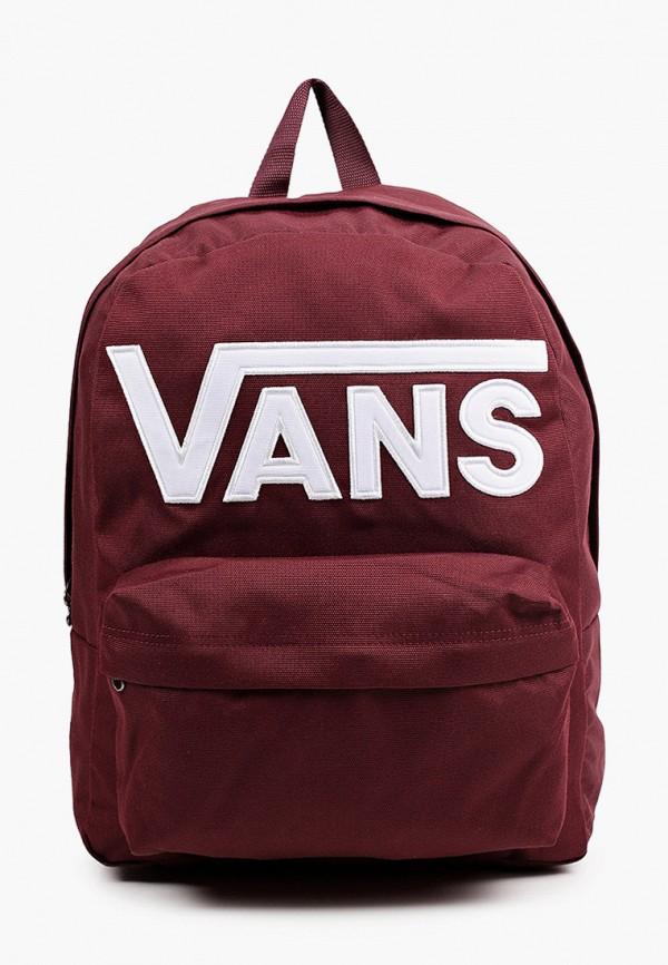 мужской рюкзак vans, бордовый