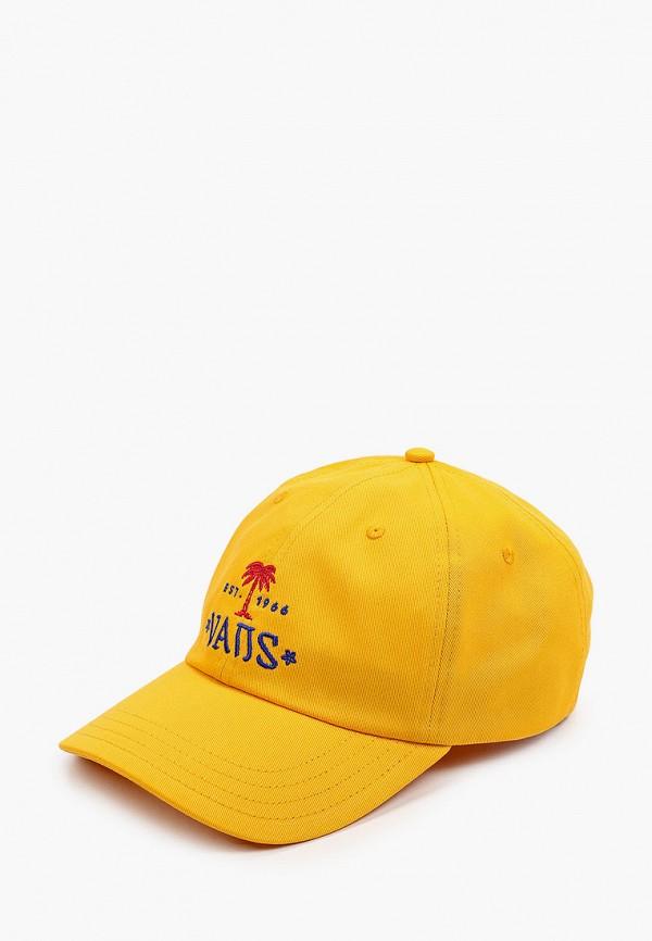 мужская бейсболка vans, желтая