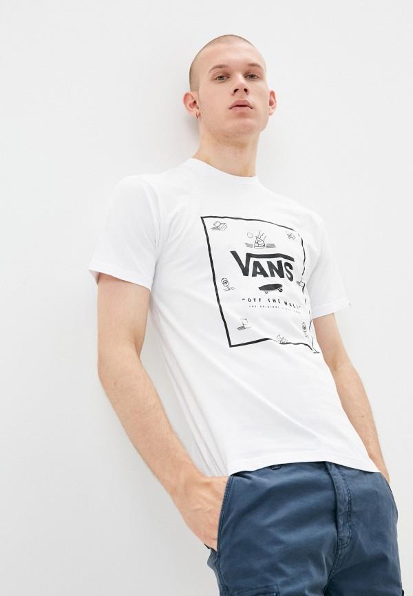 мужская спортивные футболка vans, белая